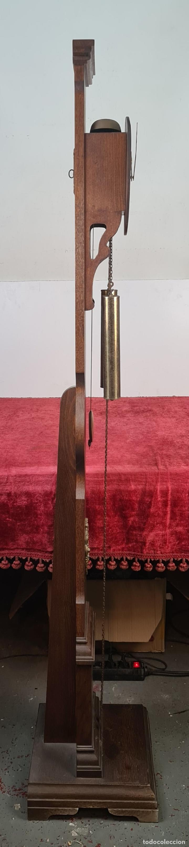 Relojes de pie: GRANDFATHER. RELOJ DE CARRILLÓN. WARMINK. INGLATERRA. CIRCA 1950. - Foto 15 - 209998818