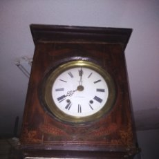 Relojes de pie: RELOJ CON CAJA DE MADERA PINTADA. Lote 211848026