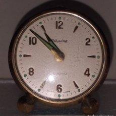 Relógios de pé: RELOJ DESPERTADOR SOBREMESA MARCA BLESSING MOD BAMBINO PARA RESTAURAR, NO FUNCIONA WEST GERMANY. Lote 212243856