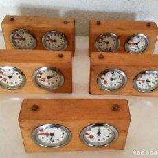 Relógios de pé: EXCELENTE LOTE 5 CRONÓMETROS RELOJES AJEDREZ VINTAGE ALPHA MADE IN GERMANY LEER DESCRIPCIÓN. Lote 215500526
