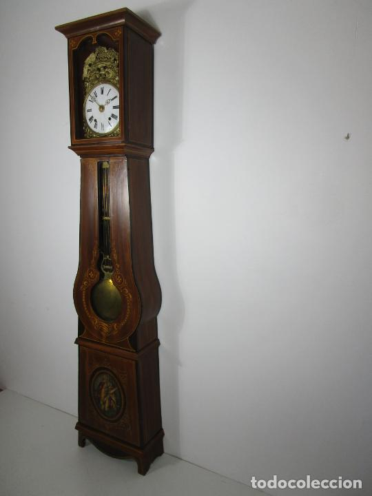 Relojes de pie: Antiguo Reloj de Pie - Maquina Morez - Péndulo de Lira - Completo - Funciona - S. XIX - Foto 2 - 216359350