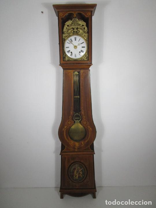 Relojes de pie: Antiguo Reloj de Pie - Maquina Morez - Péndulo de Lira - Completo - Funciona - S. XIX - Foto 3 - 216359350