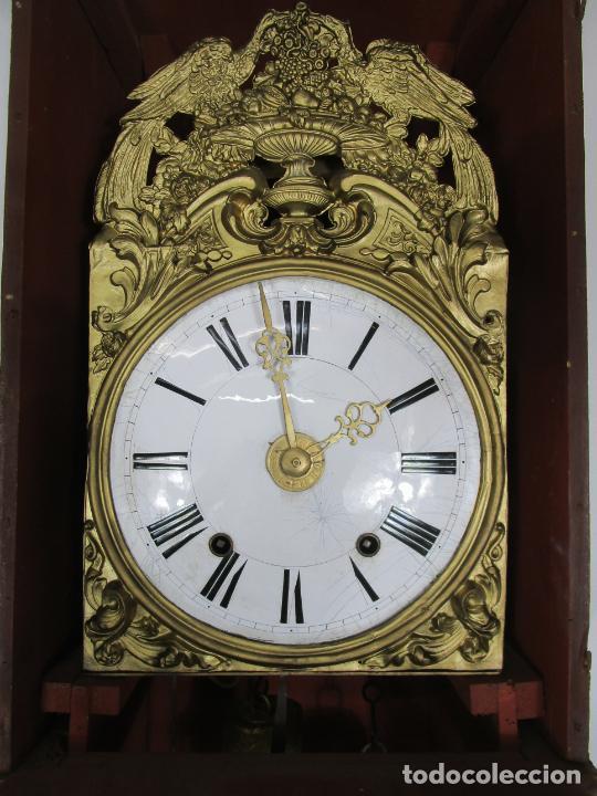 Relojes de pie: Antiguo Reloj de Pie - Maquina Morez - Péndulo de Lira - Completo - Funciona - S. XIX - Foto 20 - 216359350