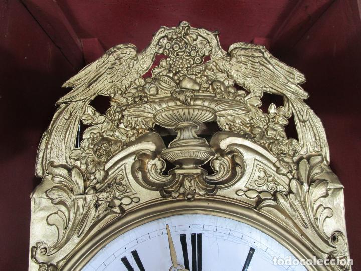 Relojes de pie: Antiguo Reloj de Pie - Maquina Morez - Péndulo de Lira - Completo - Funciona - S. XIX - Foto 23 - 216359350