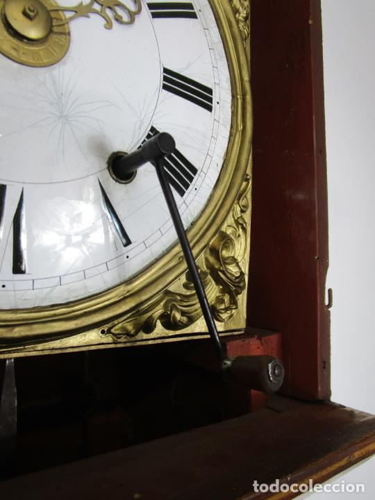 Relojes de pie: Antiguo Reloj de Pie - Maquina Morez - Péndulo de Lira - Completo - Funciona - S. XIX - Foto 27 - 216359350
