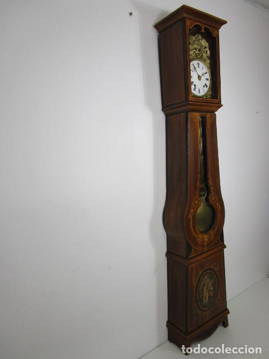 Relojes de pie: Antiguo Reloj de Pie - Maquina Morez - Péndulo de Lira - Completo - Funciona - S. XIX - Foto 32 - 216359350