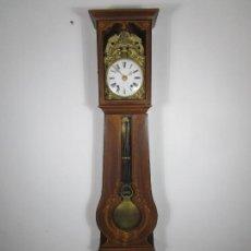 Relojes de pie: ANTIGUO RELOJ DE PIE - MAQUINA MOREZ - PÉNDULO DE LIRA - COMPLETO - FUNCIONA - S. XIX. Lote 216359350