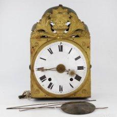Relojes de pie: RELOJ MOREZ SIGLO XIX DE 3 CAMPANAS, CON PÉNDULO. SIN PESAS.. Lote 217987400