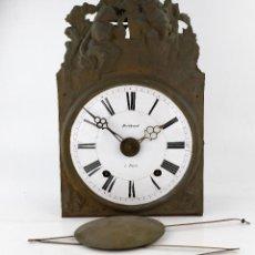 Relojes de pie: RELOJ MOREZ DE 4 CAMPANAS, CON PÉNDULO. SIGLO XIX.. Lote 217994387
