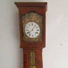 Relojes de pie: ANTIGUO RELOJ DE PIE - MAQUINA MOREZ, FRANCIA - CAJA DE MADERA PINTADA - FUNCIONA - COMPLETO -S. XIX. Lote 219371790