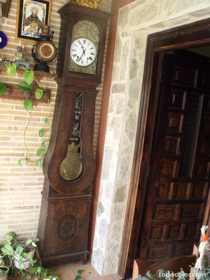 Relojes de pie: PRECIOSO RELOJ MOREZ DE PESAS Y MUEBLE- AÑO 1870-MUY BUEN FUNCIONAMIENTO-LOTE 313 - Foto 2 - 221073155