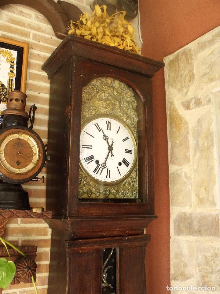 Relojes de pie: PRECIOSO RELOJ MOREZ DE PESAS Y MUEBLE- AÑO 1870-MUY BUEN FUNCIONAMIENTO-LOTE 313 - Foto 3 - 221073155