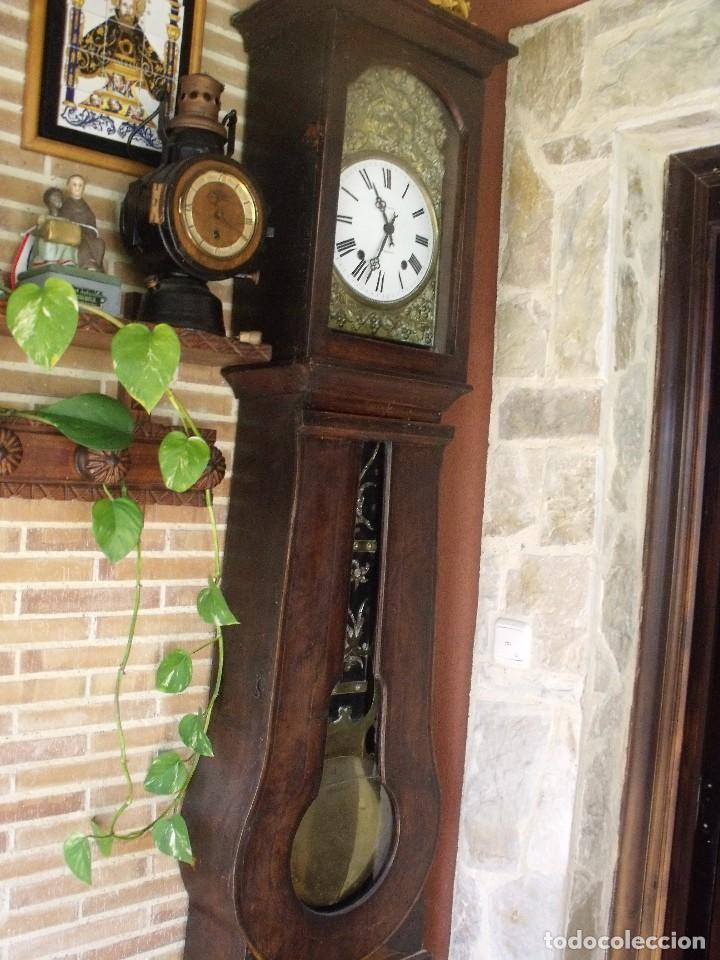 Relojes de pie: PRECIOSO RELOJ MOREZ DE PESAS Y MUEBLE- AÑO 1870-MUY BUEN FUNCIONAMIENTO-LOTE 313 - Foto 6 - 221073155