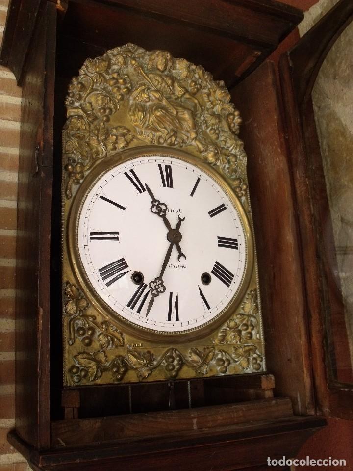 Relojes de pie: PRECIOSO RELOJ MOREZ DE PESAS Y MUEBLE- AÑO 1870-MUY BUEN FUNCIONAMIENTO-LOTE 313 - Foto 7 - 221073155
