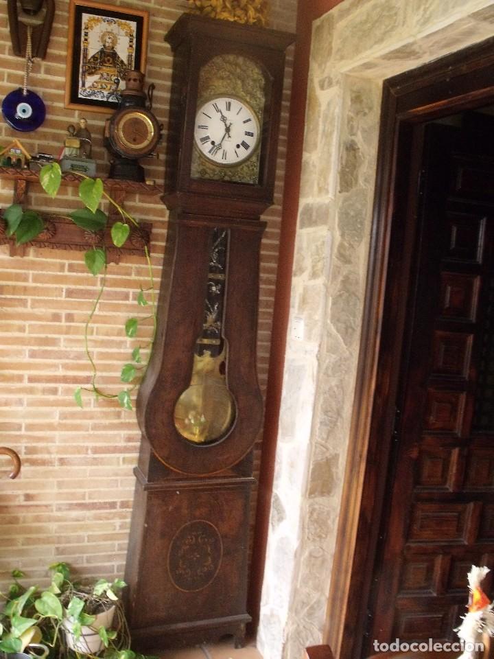 Relojes de pie: PRECIOSO RELOJ MOREZ DE PESAS Y MUEBLE- AÑO 1870-MUY BUEN FUNCIONAMIENTO-LOTE 313 - Foto 11 - 221073155