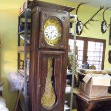Relojes de pie: ¡¡GRAN OFERTA!! PRECIOSO RELOJ MOREZ DE PIE-AÑO 1890-MUEBLE BRETON EN ROBLE-LOTE 313. Lote 221236166