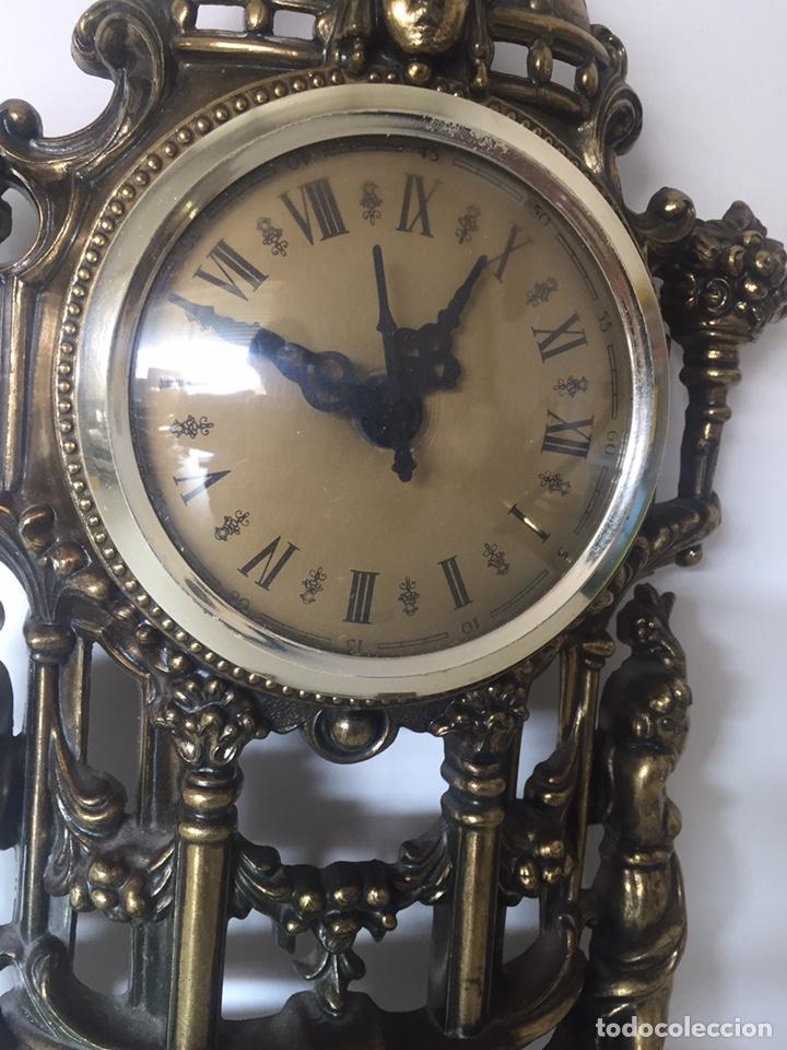 Relojes de pie: Reloj latón barroco de pila - Foto 2 - 221507432