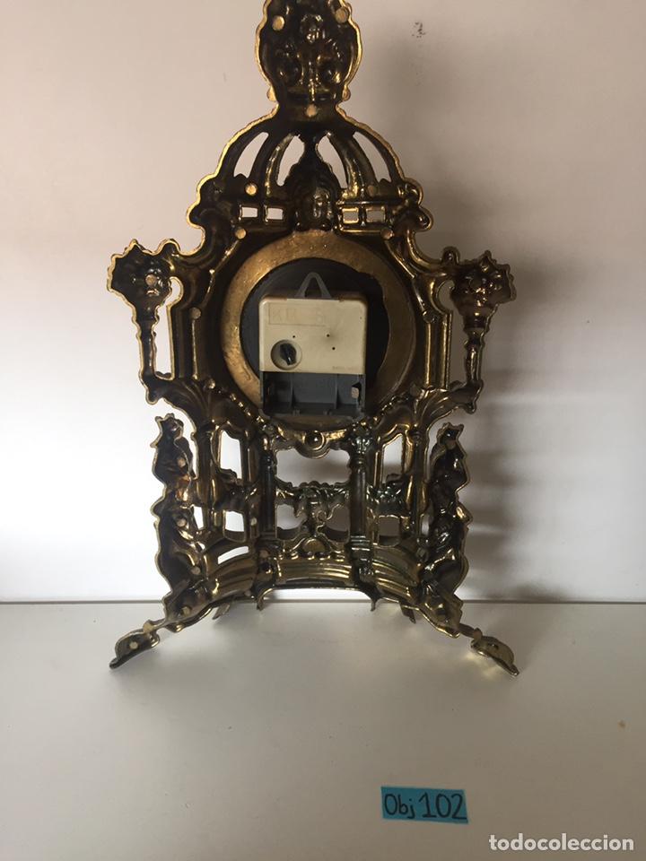 Relojes de pie: Reloj latón barroco de pila - Foto 3 - 221507432