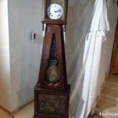 Relojes de pie: MUY ANATIGUO, MEDIADOS DE 1800 RELOJ CUERDAS SONERIA MOREZ CASTAÑO, COMPLETO FUNCIONANDO BUEN ESTADO. Lote 222063502