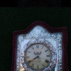 Relojes de pie: RELOJ PLATA REPUJADA ISABELINO. Lote 222165693