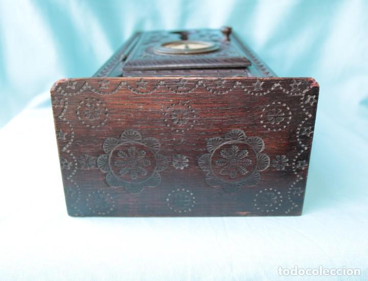Relojes de pie: Armario miniatura vintage con reloj. Vintage miniature cupboard with clock. - Foto 4 - 225346990