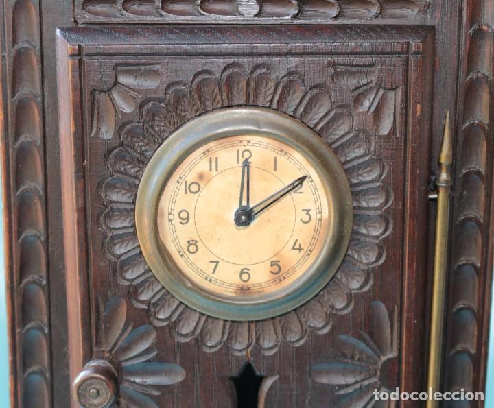 Relojes de pie: Armario miniatura vintage con reloj. Vintage miniature cupboard with clock. - Foto 6 - 225346990