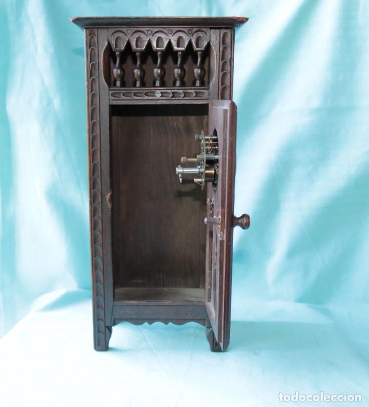 Relojes de pie: Armario miniatura vintage con reloj. Vintage miniature cupboard with clock. - Foto 7 - 225346990