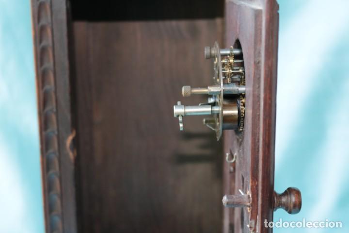 Relojes de pie: Armario miniatura vintage con reloj. Vintage miniature cupboard with clock. - Foto 8 - 225346990