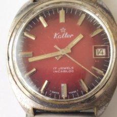 Horloges de parquet: RELOJ KALTER 17 JEWELS INCABLOC SWISS MADE FUNCIONANDO. Lote 226000065