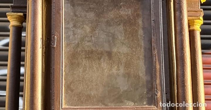 Relojes de pie: MUEBLE PARA RELOJ DE PARED. ESTILO NEOCLÁSICO. MADERA POLICROMADA. SIGLO XVIII-XIX. - Foto 3 - 229494735
