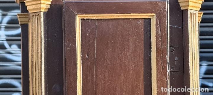 Relojes de pie: MUEBLE PARA RELOJ DE PARED. ESTILO NEOCLÁSICO. MADERA POLICROMADA. SIGLO XVIII-XIX. - Foto 4 - 229494735
