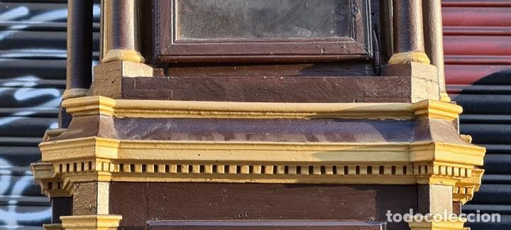 Relojes de pie: MUEBLE PARA RELOJ DE PARED. ESTILO NEOCLÁSICO. MADERA POLICROMADA. SIGLO XVIII-XIX. - Foto 5 - 229494735