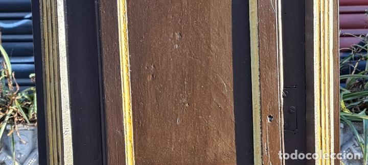 Relojes de pie: MUEBLE PARA RELOJ DE PARED. ESTILO NEOCLÁSICO. MADERA POLICROMADA. SIGLO XVIII-XIX. - Foto 9 - 229494735
