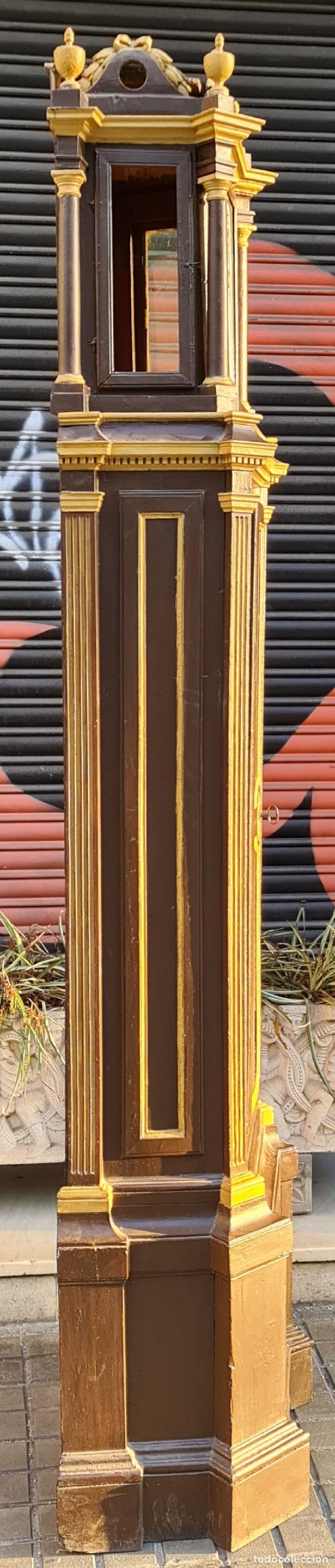 Relojes de pie: MUEBLE PARA RELOJ DE PARED. ESTILO NEOCLÁSICO. MADERA POLICROMADA. SIGLO XVIII-XIX. - Foto 13 - 229494735