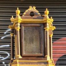 Relojes de pie: MUEBLE PARA RELOJ DE PARED. ESTILO NEOCLÁSICO. MADERA POLICROMADA. SIGLO XVIII-XIX.. Lote 229494735