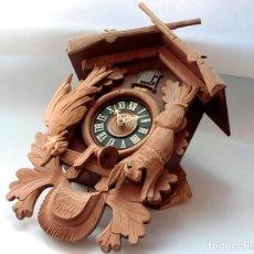 Relojes de pie: RELOJ CUCO SVS SCHMECKENBECHER REGULA DE CAZA SELVA NEGRA PARA TERMINAR, DE ANTIGUO STOCK!.. Lote 232578260