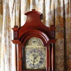 Relojes de pie: RELOJ DE PIE HIYGS Y DIEGO EVANS LONDRES CARGA MANUAL SONERIA HORAS Y MEDIAS CAJA MADERA FOTOGRAFIAS. Lote 232638175