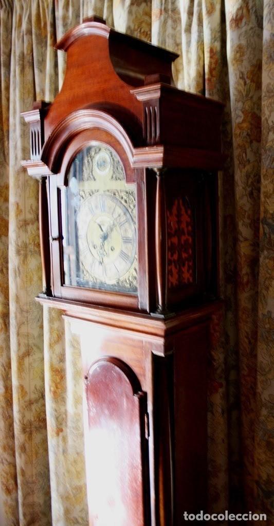 Relojes de pie: RELOJ DE PIE HIYGS Y DIEGO EVANS LONDRES CARGA MANUAL SONERIA HORAS Y MEDIAS CAJA MADERA FOTOGRAFIAS - Foto 4 - 232638175