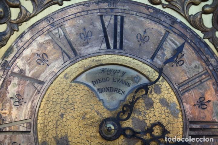 Relojes de pie: RELOJ DE PIE HIYGS Y DIEGO EVANS LONDRES CARGA MANUAL SONERIA HORAS Y MEDIAS CAJA MADERA FOTOGRAFIAS - Foto 6 - 232638175