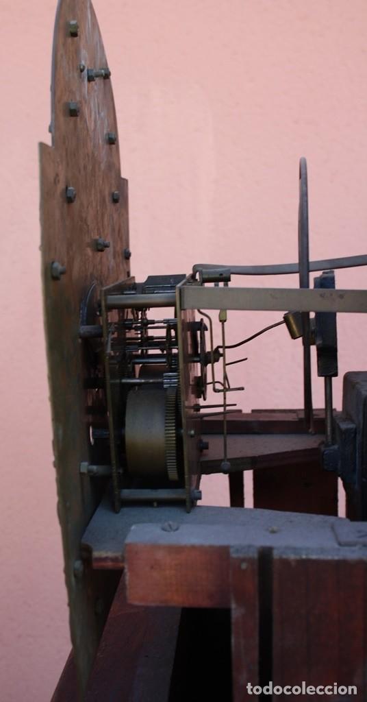 Relojes de pie: RELOJ DE PIE HIYGS Y DIEGO EVANS LONDRES CARGA MANUAL SONERIA HORAS Y MEDIAS CAJA MADERA FOTOGRAFIAS - Foto 10 - 232638175