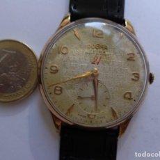 Horloges de parquet: AÑOS 50 BONITO RELOJ CABALLERO A CUERDA DOGMA GRUESO CHAPADO FUNCIONANDO PERFECTO BUEN ESTADO. Lote 232857135