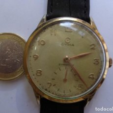 Horloges de parquet: AÑOS 50 BONITO RELOJ CABALLERO A CUERDA CYMA GRUESO CHAPADO FUNCIONANDO PERFECTO BUEN ESTADO. Lote 232857651