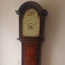 Relógios de pé: RELOJ ANTIGUO GRADFHATER SIGLO XVIII BUEN ESTADO MÁQUINA CON FIRMA DEL RELOJERO Y ORIGEN FUNCIONA. Lote 243255720
