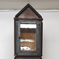 Relojes de pie: ANTIGUA CAJA DE RELOJ CARLOS IV - RELOJ DE PIE, EMPOTRADO - MADERA DE RIBERA - PRINCIPIOS S.XIX. Lote 251189490