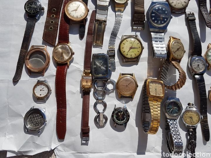Relojes de pie: Relojes antiguos lote de los años 1930- 40 -50- 60-70 - Foto 6 - 252838960