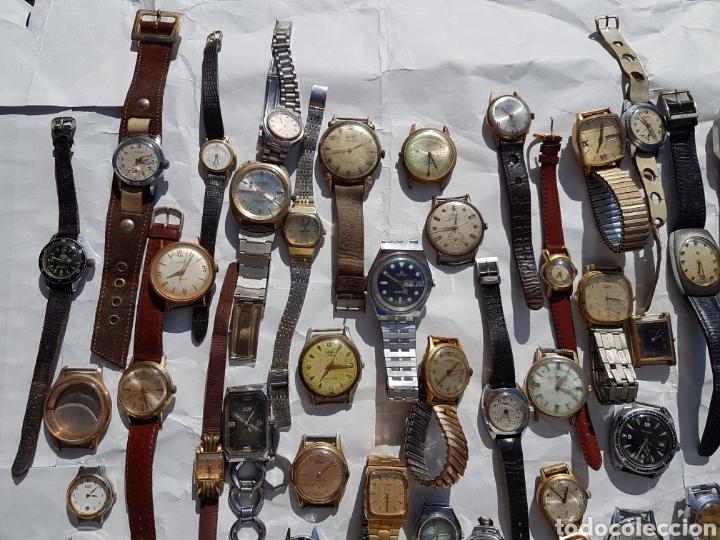 Relojes de pie: Relojes antiguos lote de los años 1930- 40 -50- 60-70 - Foto 12 - 252838960