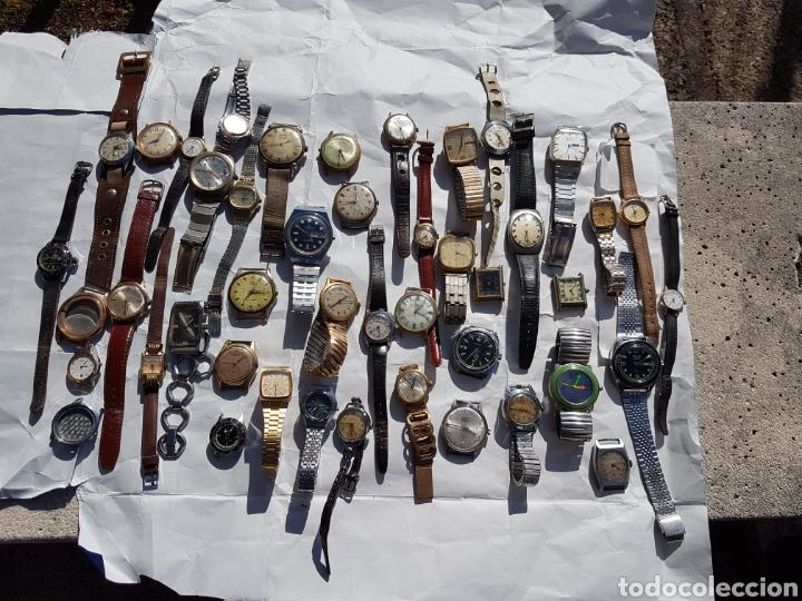 RELOJES ANTIGUOS LOTE DE LOS AÑOS 1930- 40 -50- 60-70 (Relojes - Pie Carga Manual)