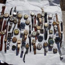 Relojes de pie: RELOJES ANTIGUOS LOTE DE LOS AÑOS 1930- 40 -50- 60-70. Lote 252838960