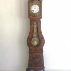 Relógios de pé: ELEGANTE RELOJ DE PARED MOREY FUNCIONANDO CON SONERIAS Y PENDULO EN CAJA PATINADA FRANCIA S XIX. Lote 254317060