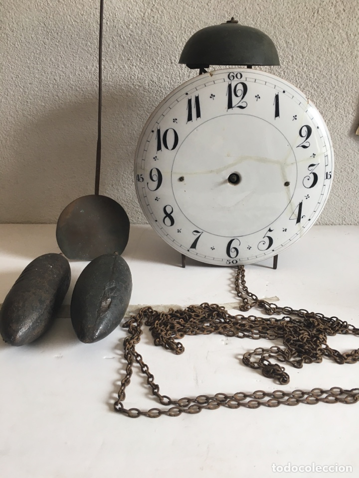 RELOJ DE PARED FINALES SIGLO XVIII (Relojes - Pie Carga Manual)